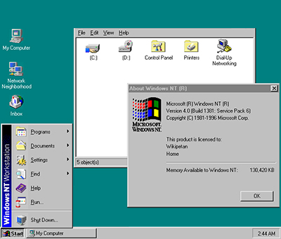 Windows NT Command Script Types